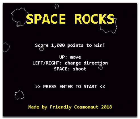 Space Rocks Titles