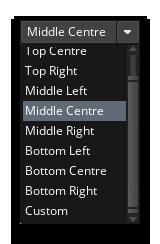 Origin Set To Middle Centre