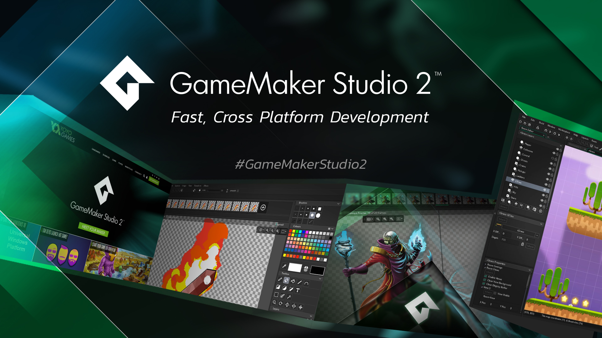 GameMaker Studio 2. Make a game with the complete game development tool